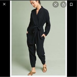 Anthropologie Hei Hei Black jumpsuit size Small